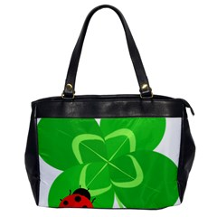 Insect Flower Floral Animals Green Red Line Office Handbags