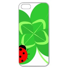 Insect Flower Floral Animals Green Red Line Apple Seamless iPhone 5 Case (Clear)