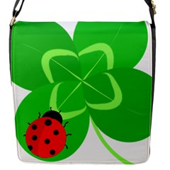 Insect Flower Floral Animals Green Red Line Flap Messenger Bag (s)