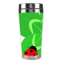 Insect Flower Floral Animals Green Red Line Stainless Steel Travel Tumblers