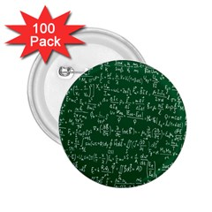 Formula Number Green Board 2.25  Buttons (100 pack)