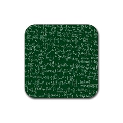 Formula Number Green Board Rubber Square Coaster (4 pack)