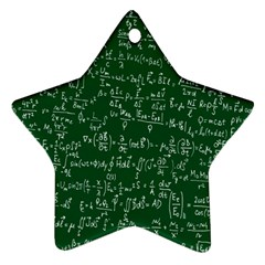 Formula Number Green Board Star Ornament (Two Sides)