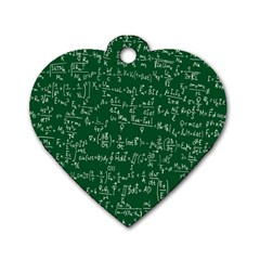 Formula Number Green Board Dog Tag Heart (Two Sides)