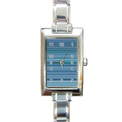 Horizontal Line Blue Rectangle Italian Charm Watch