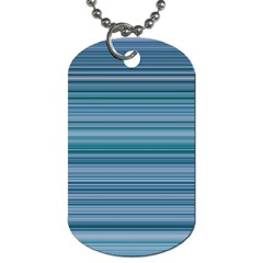 Horizontal Line Blue Dog Tag (One Side)
