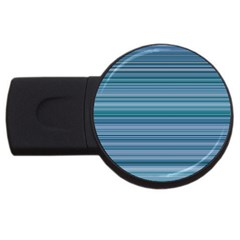 Horizontal Line Blue USB Flash Drive Round (1 GB)