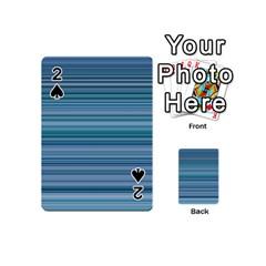 Horizontal Line Blue Playing Cards 54 (Mini)