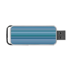 Horizontal Line Blue Portable USB Flash (Two Sides)