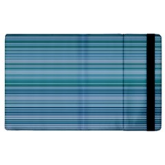 Horizontal Line Blue Apple iPad 2 Flip Case