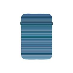 Horizontal Line Blue Apple iPad Mini Protective Soft Cases
