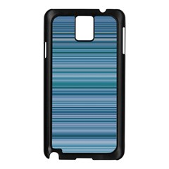 Horizontal Line Blue Samsung Galaxy Note 3 N9005 Case (Black)