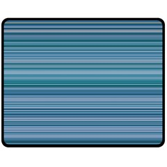 Horizontal Line Blue Double Sided Fleece Blanket (Medium)