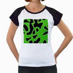 Abstract Shapes A Completely Seamless Tile Able Background Women s Cap Sleeve T