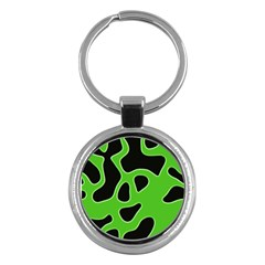 Abstract Shapes A Completely Seamless Tile Able Background Key Chains (Round)