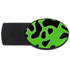 Abstract Shapes A Completely Seamless Tile Able Background USB Flash Drive Oval (2 GB)
