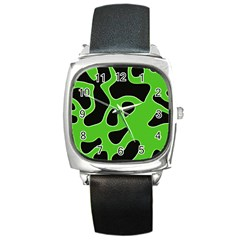 Abstract Shapes A Completely Seamless Tile Able Background Square Metal Watch