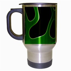 Abstract Shapes A Completely Seamless Tile Able Background Travel Mug (silver Gray)