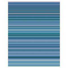 Horizontal Line Blue Drawstring Bag (small)