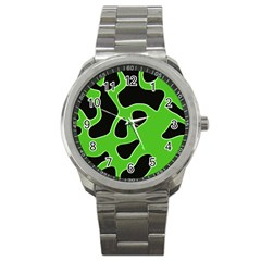 Abstract Shapes A Completely Seamless Tile Able Background Sport Metal Watch