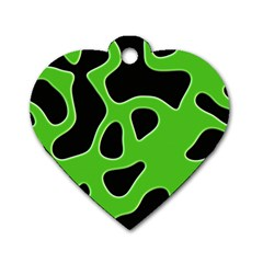 Abstract Shapes A Completely Seamless Tile Able Background Dog Tag Heart (Two Sides)
