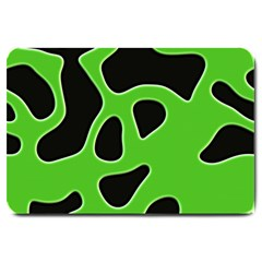 Abstract Shapes A Completely Seamless Tile Able Background Large Doormat