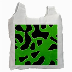 Abstract Shapes A Completely Seamless Tile Able Background Recycle Bag (One Side)