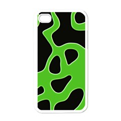Abstract Shapes A Completely Seamless Tile Able Background Apple iPhone 4 Case (White)