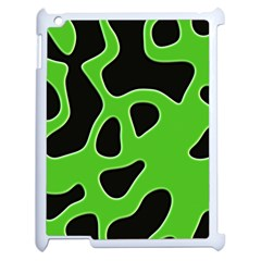 Abstract Shapes A Completely Seamless Tile Able Background Apple iPad 2 Case (White)