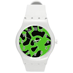 Abstract Shapes A Completely Seamless Tile Able Background Round Plastic Sport Watch (M)
