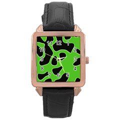 Abstract Shapes A Completely Seamless Tile Able Background Rose Gold Leather Watch