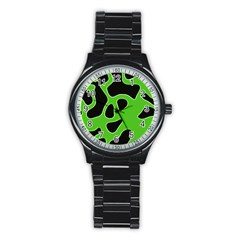 Abstract Shapes A Completely Seamless Tile Able Background Stainless Steel Round Watch