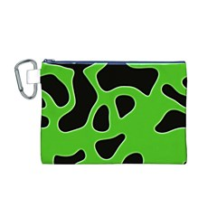 Abstract Shapes A Completely Seamless Tile Able Background Canvas Cosmetic Bag (m)
