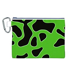 Abstract Shapes A Completely Seamless Tile Able Background Canvas Cosmetic Bag (l)