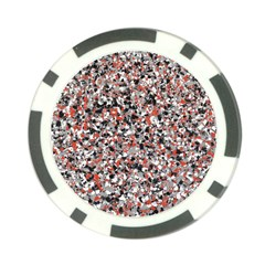 Hurley Mix Electric Electric Red Blend Poker Chip Card Guard