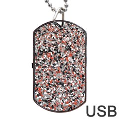 Hurley Mix Electric Electric Red Blend Dog Tag USB Flash (Two Sides)