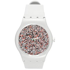 Hurley Mix Electric Electric Red Blend Round Plastic Sport Watch (M)