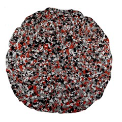 Hurley Mix Electric Electric Red Blend Large 18  Premium Flano Round Cushions