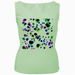 Colorful Random Blobs Background Women s Green Tank Top