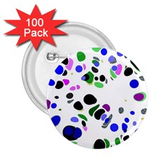 Colorful Random Blobs Background 2.25  Buttons (100 pack)