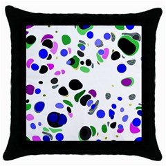 Colorful Random Blobs Background Throw Pillow Case (black)