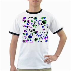 Colorful Random Blobs Background Ringer T-Shirts