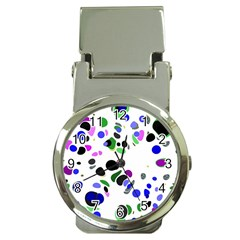 Colorful Random Blobs Background Money Clip Watches