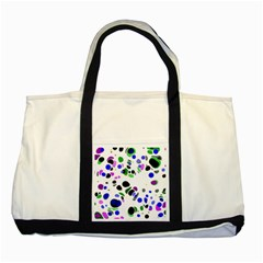 Colorful Random Blobs Background Two Tone Tote Bag