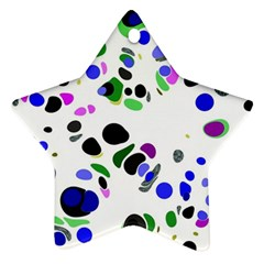Colorful Random Blobs Background Star Ornament (Two Sides)