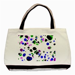 Colorful Random Blobs Background Basic Tote Bag (Two Sides)