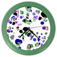 Colorful Random Blobs Background Color Wall Clocks