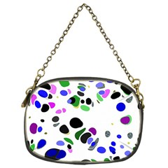 Colorful Random Blobs Background Chain Purses (one Side)