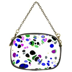 Colorful Random Blobs Background Chain Purses (Two Sides)