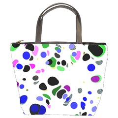 Colorful Random Blobs Background Bucket Bags